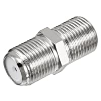 uxcell Silver Tone BSP F Female to F Female Jack RF Coaxial Adapter Connector