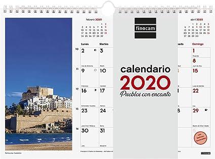 Finocam - Calendario de pared 2020 Imágenes Espiral 30x21 Pueblos con Encanto español: Amazon.es: Oficina y papelería