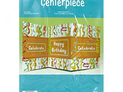 Bulk Buys Chic Happy Birthday Table Centerpiece