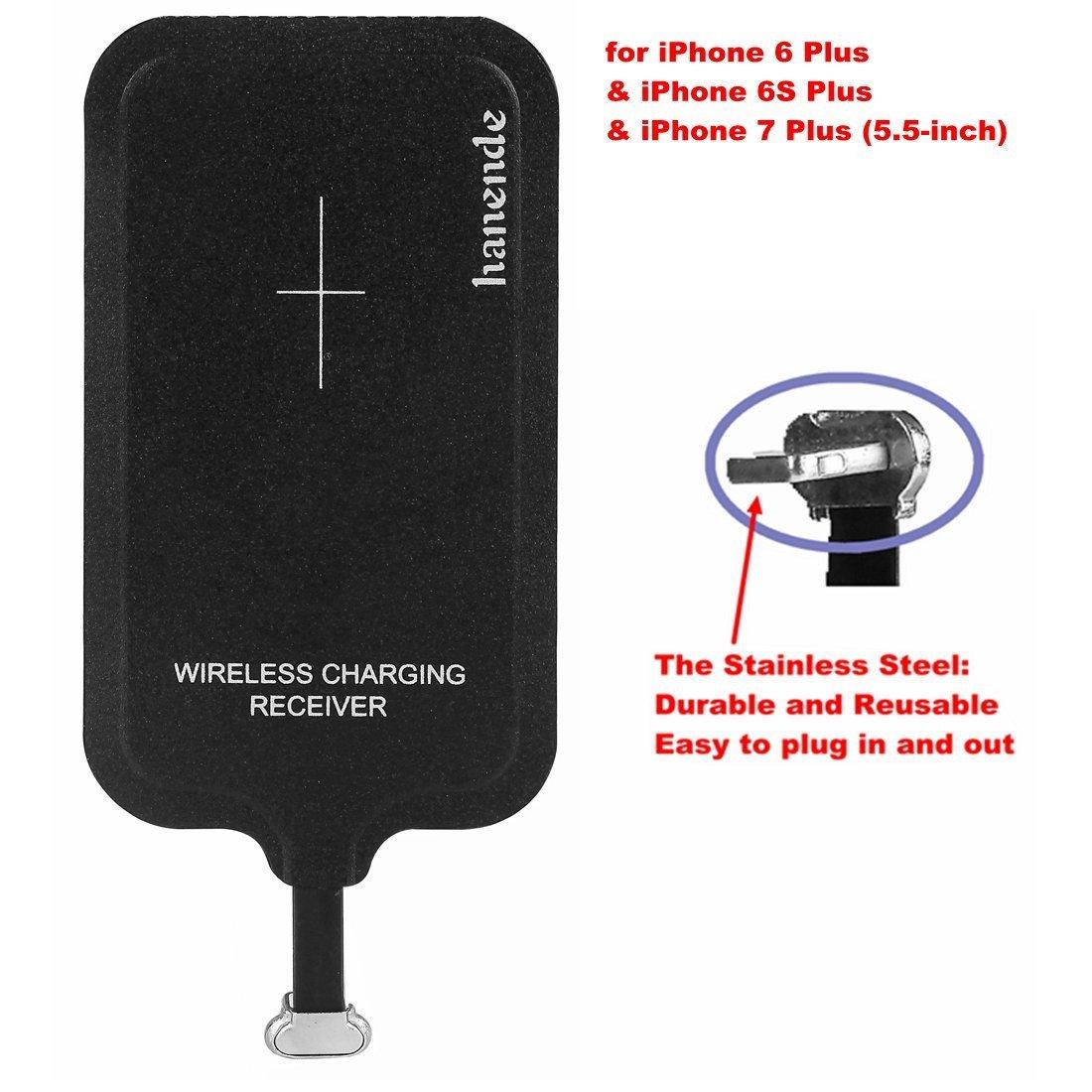 hanende® Kit de Cargador Inalámbrico para iPhone 7/6/6s Plus, Qi ...