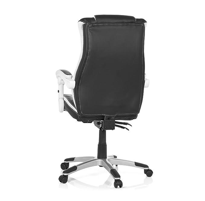 MyBuero silla gaming GAMING RELAX piel sintética negro / blanco 444450: Amazon.es: Oficina y papelería