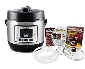 NuWave 33101BND Pressure Cooker Bundle With Accessory Kit, 6-Qt, Black