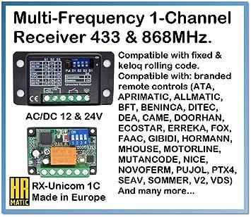 Universal Ersatz Handsender HR MULTI 2-280 MHz bis 868 MHz