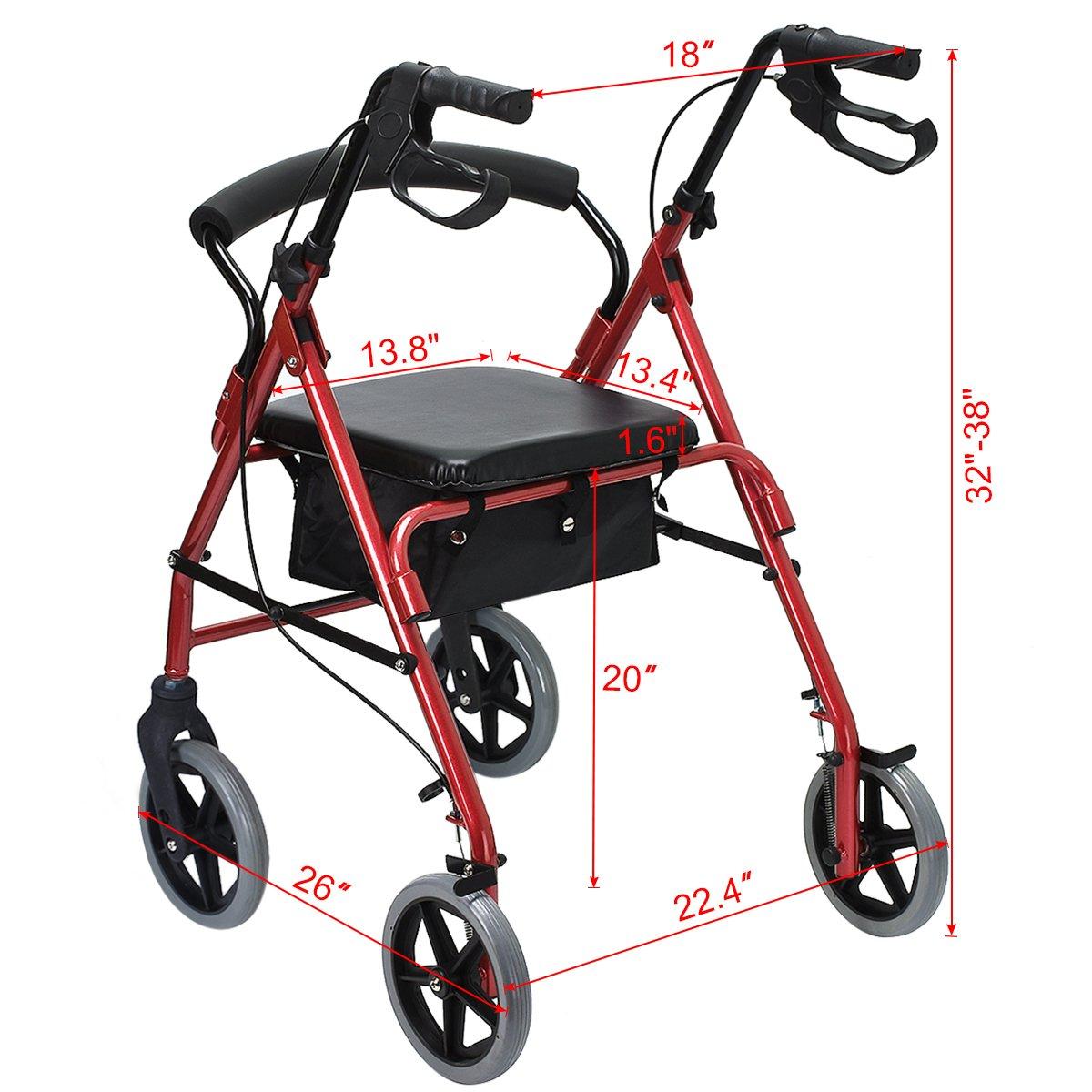 4 wheel rollator