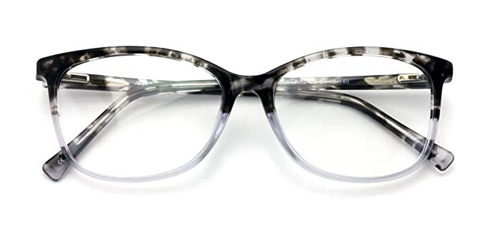 a655d3a391 Women 2 Tone Leopard Fashion Acetate Non-prescription Glasses Frame Clear  Lens Eyeglasses Rx