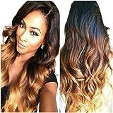 Obzer USA® haute qualité Perruque Cosplay Pour femmes Perruque Cheveux ondulés Extensions de cheveux Long Complète bouclé ondulé Chaleur résistant