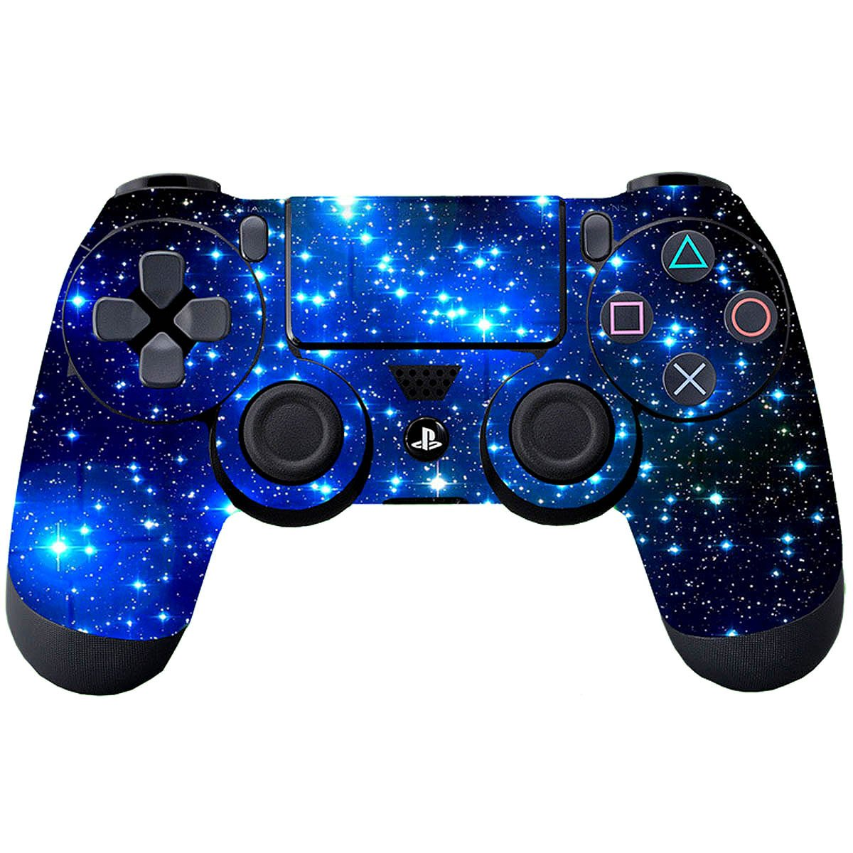 Vinyl Decal Sticker Cover for Sony PlayStation 4 DualShock 4 Wireless Controller SubClap 4 Packs PS4 Controller Skin Shing Blue
