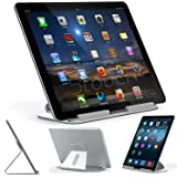 iPad Pro Stand, Stouch Aluminum Stand for iPad Pro with Aluminum Desktop Holder for iPad Pro 12.9 Microsoft Surface Pro 4 3, Samsung Tab Pro (Silver)