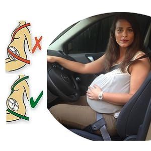 Ceinture de sécurité grossesse pour les maman enceintes ? Qui protège le bébé et la mère en évitant le risque de fausse couche ? Enceinte dans la voiture