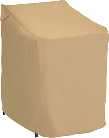 Protective Covers Weatherproof Stacking Chair Cover Tan