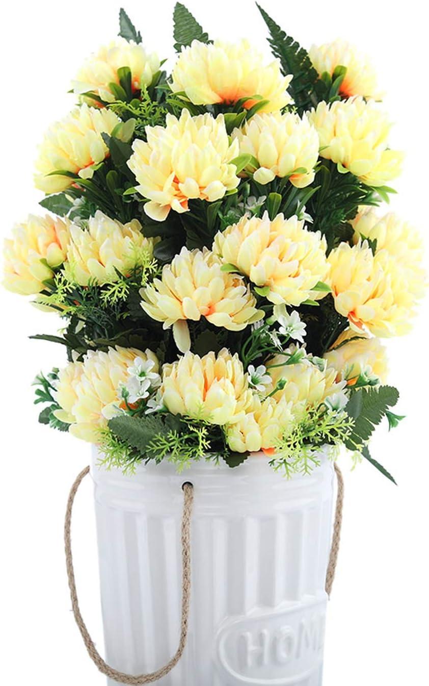 """Golden Yellow /_207-07GY Silk Gerbera Daisy Artificial Flowers 28/"""" Stem 5/"""" Bloom"""
