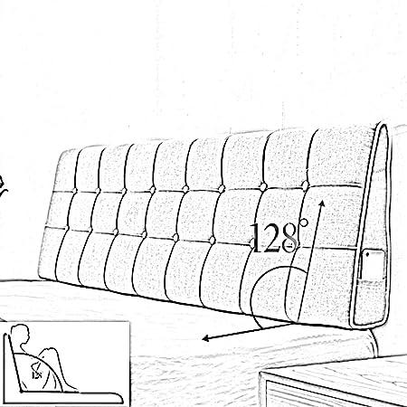 7 Tailles en Option Home KD T/ête De Lit Coussin Soutien Lombaire Grand Dossier Triangulaire Chevet Doux Matelas R/ésistant Chambre Robuste 7 Couleurs Solides Couleur : G, Taille : 200 x 15 x 50cm