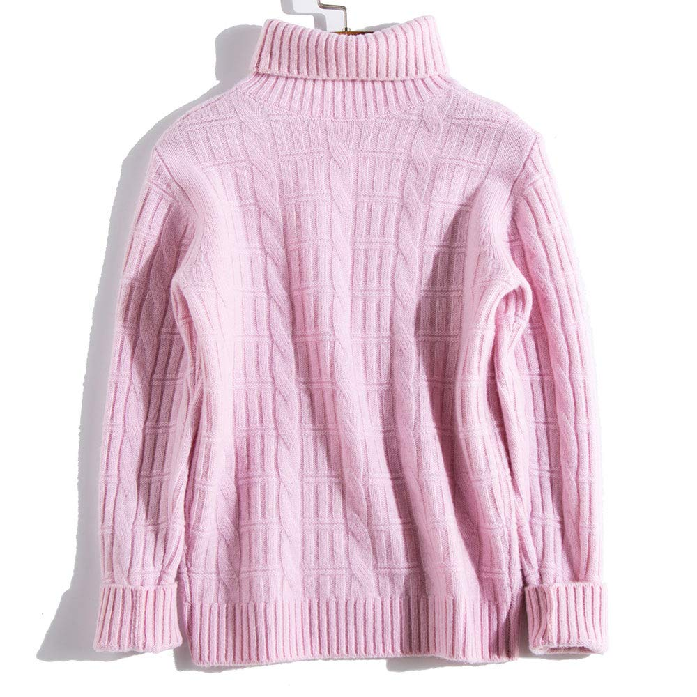 JING Baby Kids Boys Girls Pure Wool Knitted Sweater High Neck Casual Pullover Fleece Tops 1112