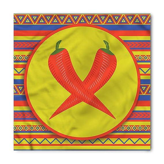 Soefipok Pañuelo mexicano, dos chiles rojos, cabeza y corbata ...