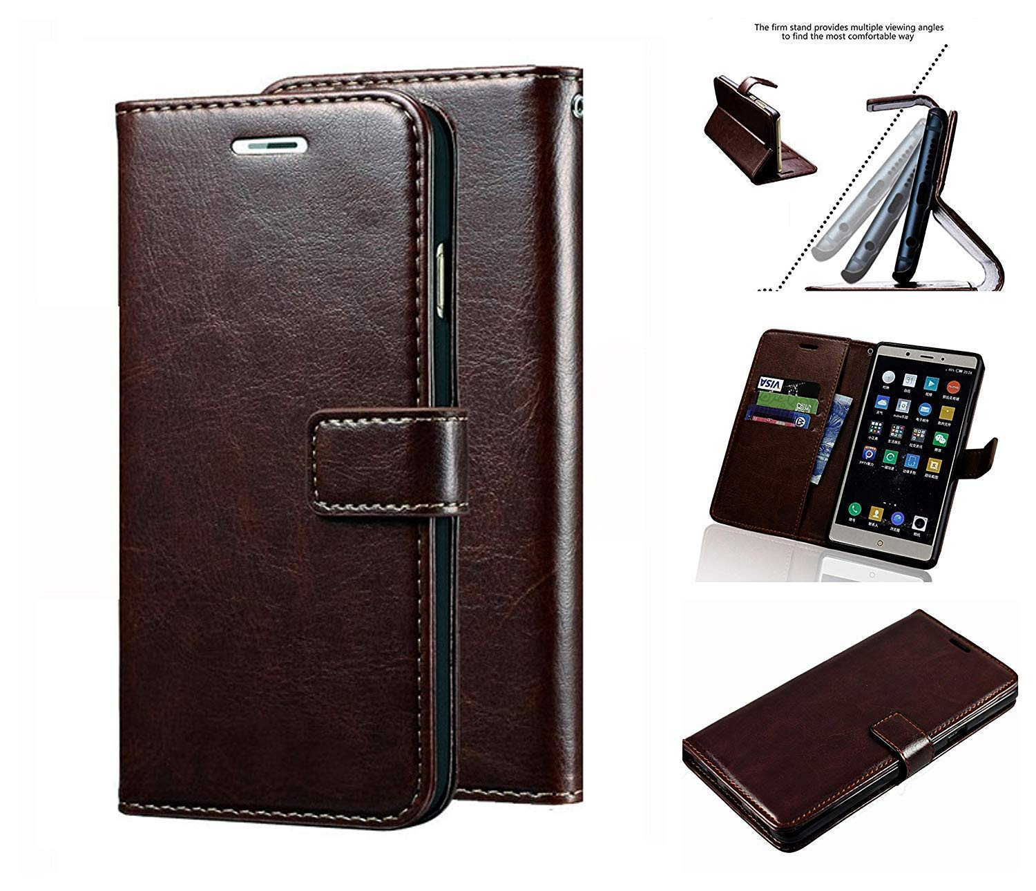 pretty nice e6b1c d6b86 Newbee Vintage Stylish Retro Leather Diary Wallet Book Flip Cover Case for  Asus Zenfone 2 Laser 5.5