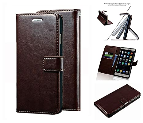 quality design 68b14 219fc Newbee Vintage Stylish Retro Leather Diary Wallet Book Flip Cover ...