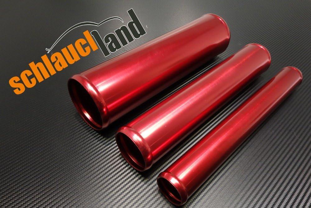 Schlauchland 30cm Alu-Rohr AD 51mm SCHWARZ ***** auch in BLAU oder ROT ***Alurohr Aluminiumrohr Aluminum Pipe Turborohr Ladeluftk/ühler Turbo