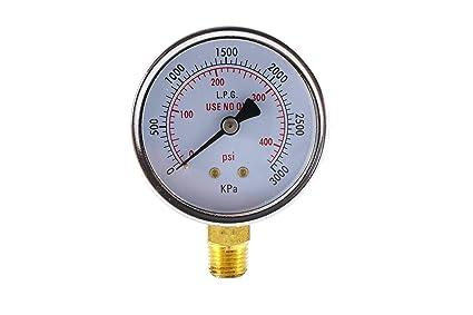 High Pressure Gauge for Propane Regulator 0-400 psi - 2 5 inches