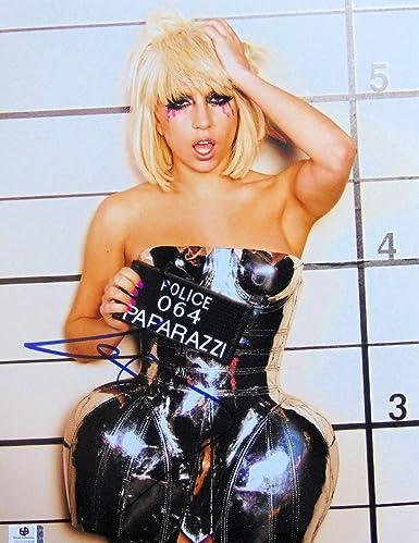 Lady Gaga Signed Autographed 11X14 Photo Paparazzi Mug Shot