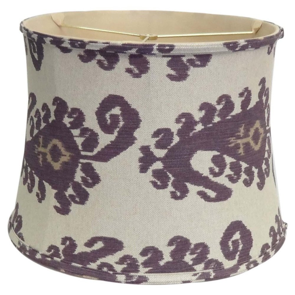 Amita Trading Inc. Purple Paisley Linen Lamp Shade