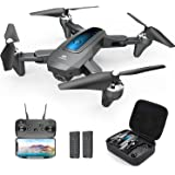DEERC D10 Drone with Camera for Adults and Kids 1080P HD FPV Live Video, RC Quadcopter Helicopter with Waypoints, Altitude Ho