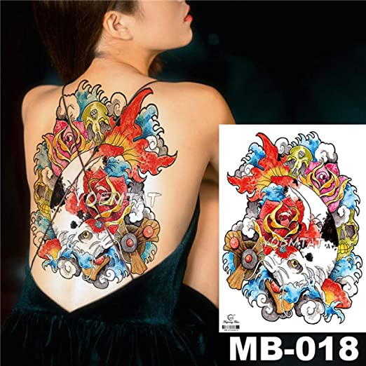 Handaxian 3pcsAngel Cross Wings Big Tattoo Sticker Impermeable ...