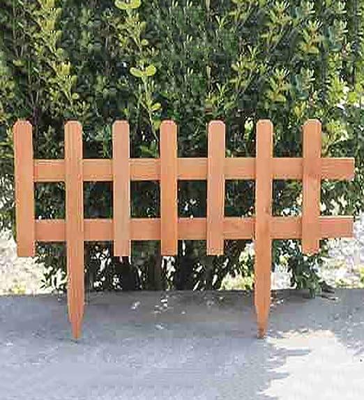 KKCFHUAJIA Carbonizado de Madera sólida Valla de jardín de piquete Paneles de fachada de césped bordillo de cercado Conjunto (Color : BrownX1): Amazon.es: Jardín