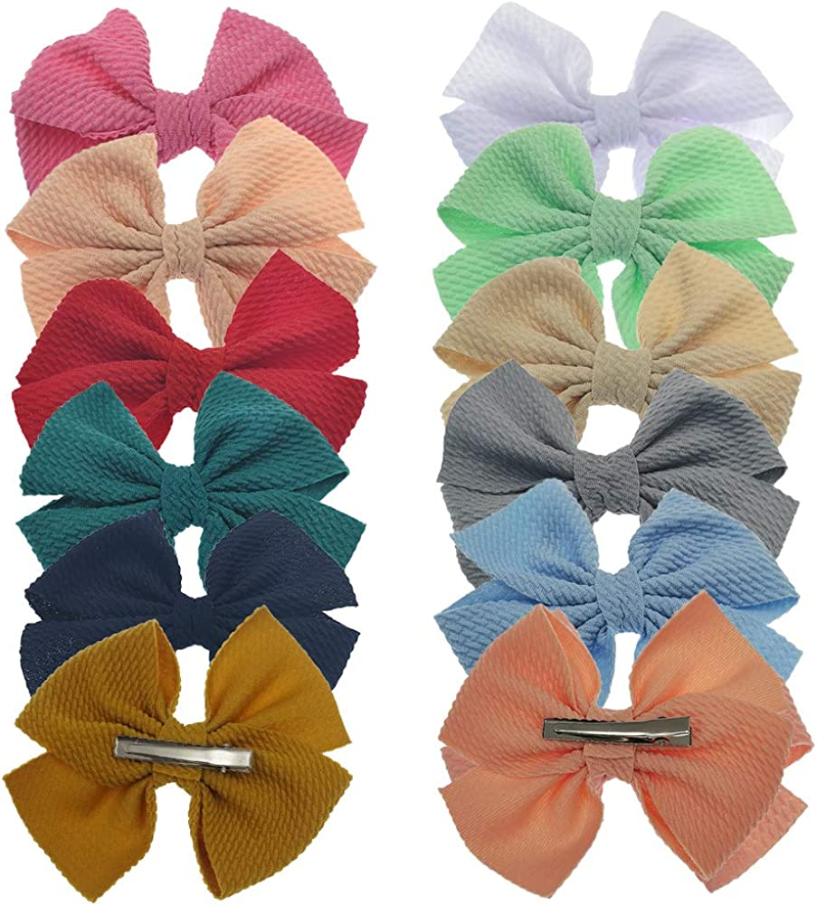 Baby Girl Bow Headbands Newborn Infant Toddler Hairband Nylon Elastic Headwraps for Children Hair Accessories