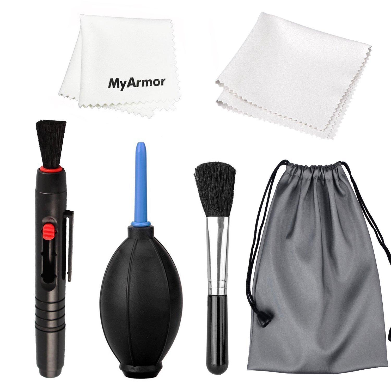 MyArmor Professional Lens Cleaning Kit Set With Pen Cloth Air Blower Brush for Cameras(Canon,Nikon,Pentax,Sony), PC or Phone Screens, Glass ect. product image