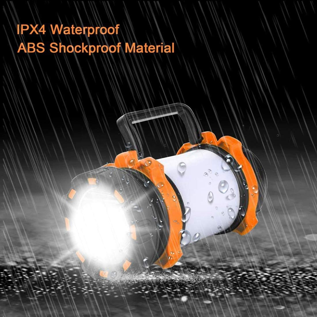 AlpsWolf Rechargeable Camping Lantern Flashlight, 800 Lumens, 6 Lighting Modes, 4000mAh PowerCore, IPX4 Waterproof, Portable for Emergency, Perfect for Searching, Camping, Hiking, Outdoor Activities: Sports & Outdoors