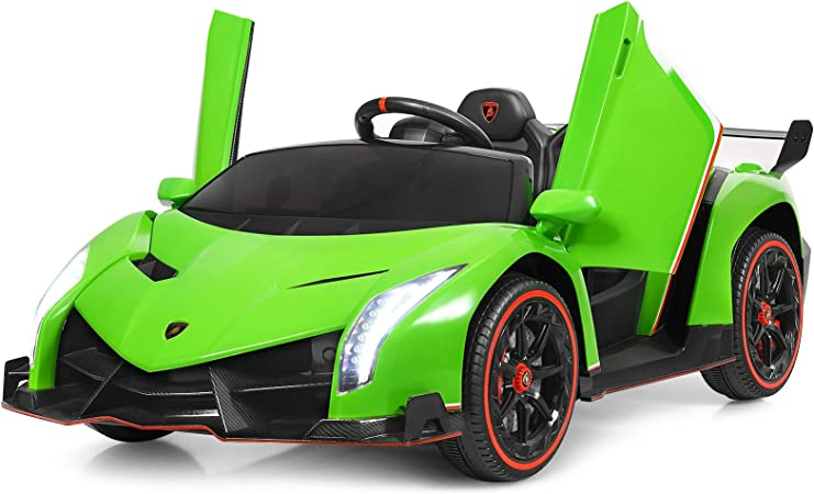 Costzon 2-Seater Ride on Car, 12V Battery Powered Car w/ 2.4G Remote Control, 3 Speed, Swing Mode, LED Lights, Horn, USB/MP3/TF, Electric Vehicle for Kids (Green)