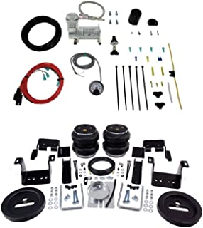 product image for Air Lift 57538 25854 Rear Set of Load Lifter 7500XL Series Air Springs with Load Controller Single Path On-Board Air Compressor System Bundle for Sierra Silverado