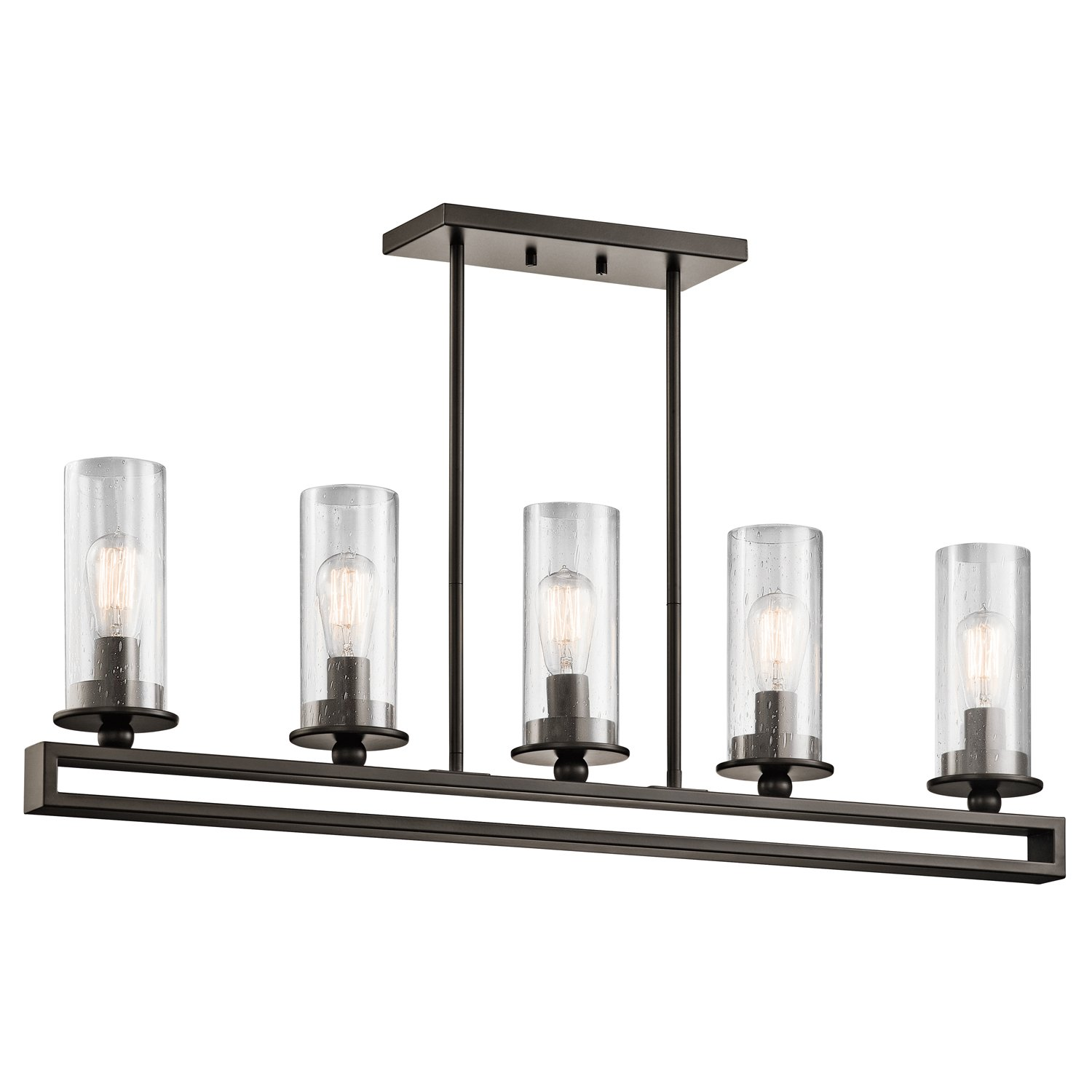 Kichler 42124oz Kayde Linear Chandelier 5 Light Olde Bronze Com