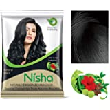 Nisha Natural Colour Hair Henna Powder (Black, 10 g) - Pack of 10