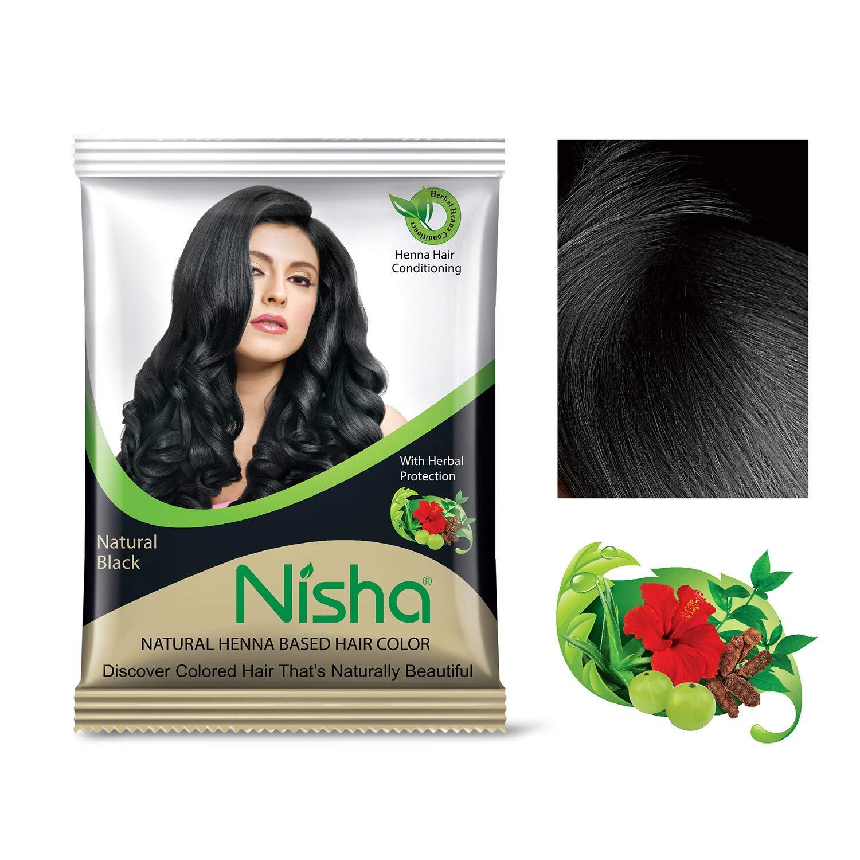 Nisha 10g Natural Color Hair Henna (pack of 5) with free Sahiba Hair dye  Brush (Natural Brown)