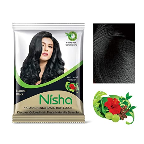 51cad875b Buy Nisha Natural Colour Hair Henna Powder (Black, 10 g) - Pack of 10  Online at Low Prices in India - Amazon.in