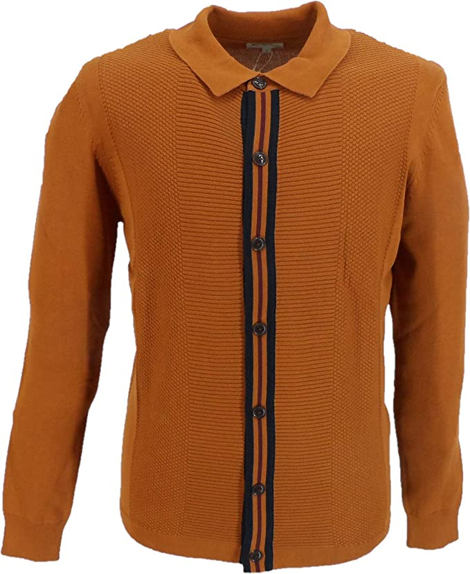 60s 70s Men's Clothing UK | Shirts, Trousers, Shoes Ben Sherman Mens Button Through Mod Cardigan £64.99 AT vintagedancer.com