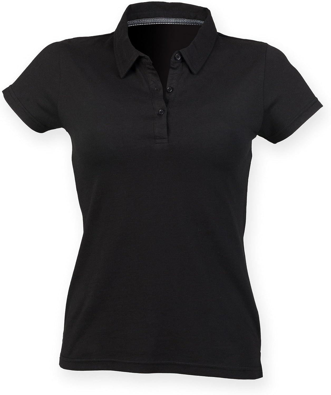 Skinni Fit Skinnifit Womens//Ladies Short Sleeve Polo Shirt