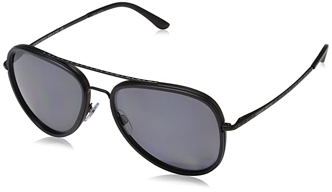 d1a4b4b803a8 Giorgio Armani Mens Sunglasses (AR6039) Black Matte Grey Metal - Polarized  - 56mm