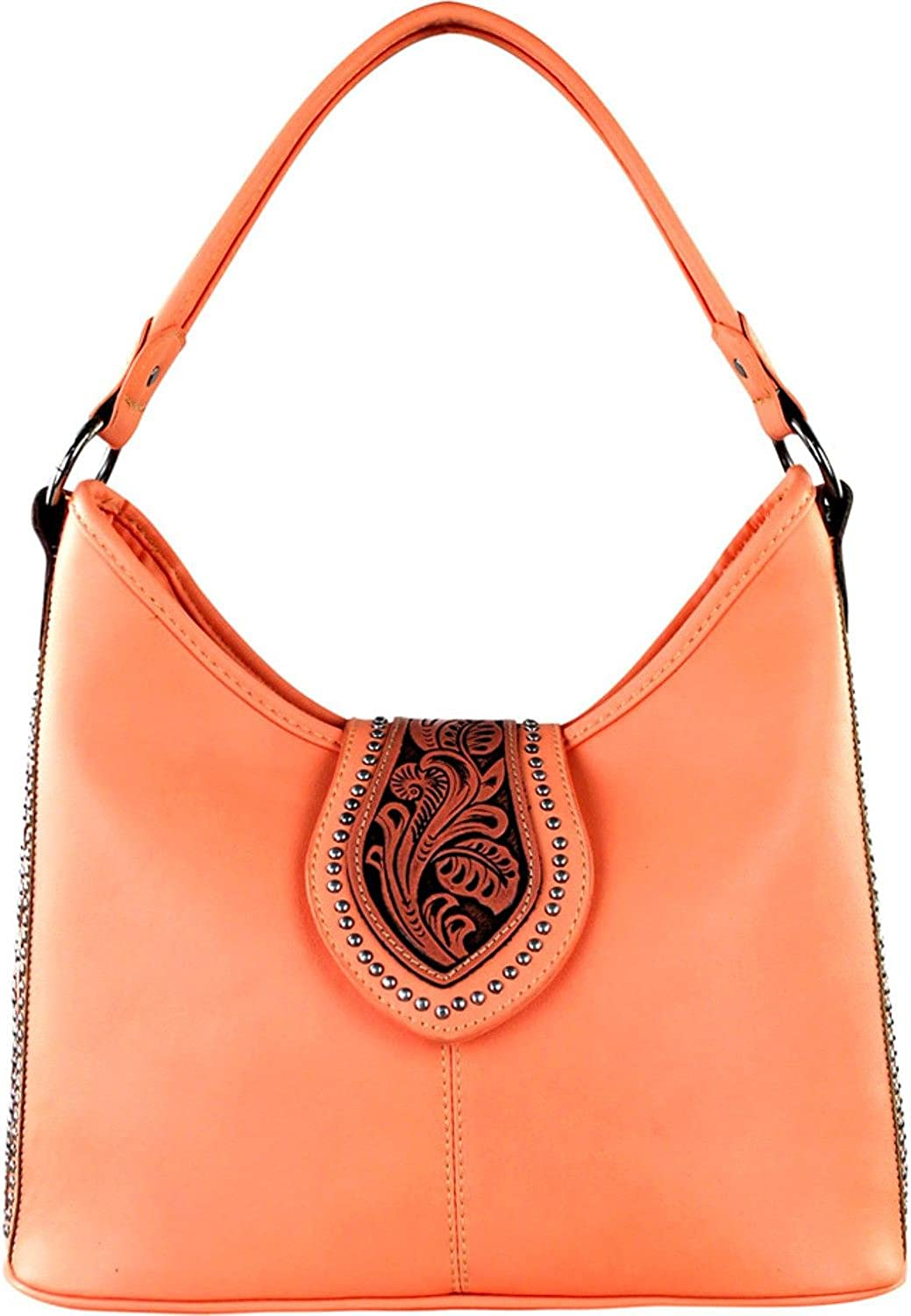 Mw307g-119 Pk Montana West Womens Tooled Conceal Carry Purse