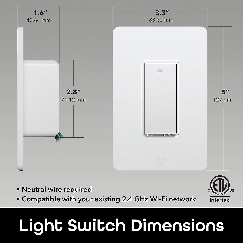 Geeni Smart Kit de interruptor de 3 vías, 15 A, interruptor de luz ...