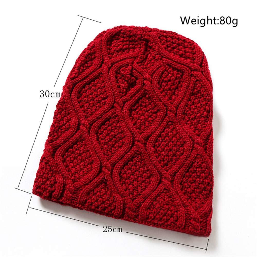 EIWOLCN Winter Knitted Hat Men Winter Hats for Men Women Pattern Thicken Caps