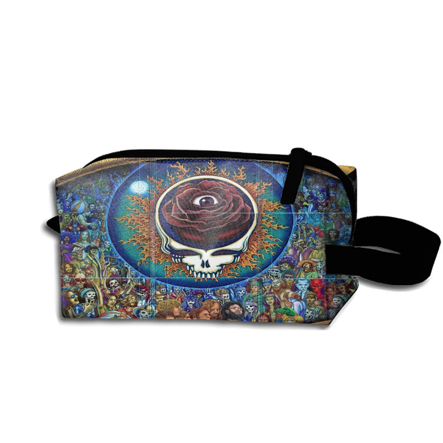 Beauty Cosmetic Bag Grateful Dead Steal Your Face Brush Organizer Hanging Storage Bag