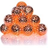 Volador Battery Operated String Lights 5.6ft 10 LED Copper Moroccan Orb Fairy Lights Festival Ambiance Lighting, Christmas, Wedding, Party, Bedroom Decorative Lights