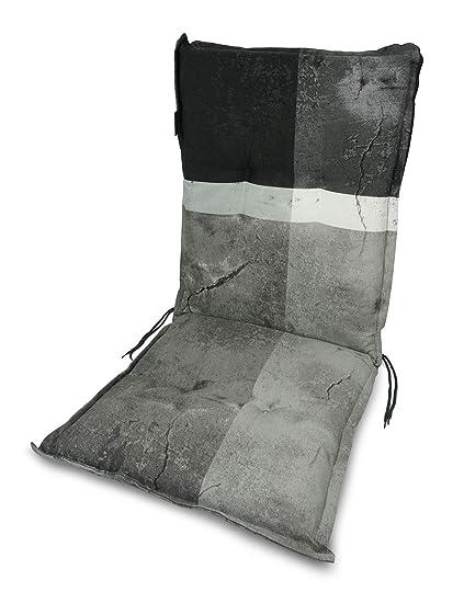 MADISON Gartenmoebelauflagen für Hochlehner Sessel Gartenstuhl in taupe Blume