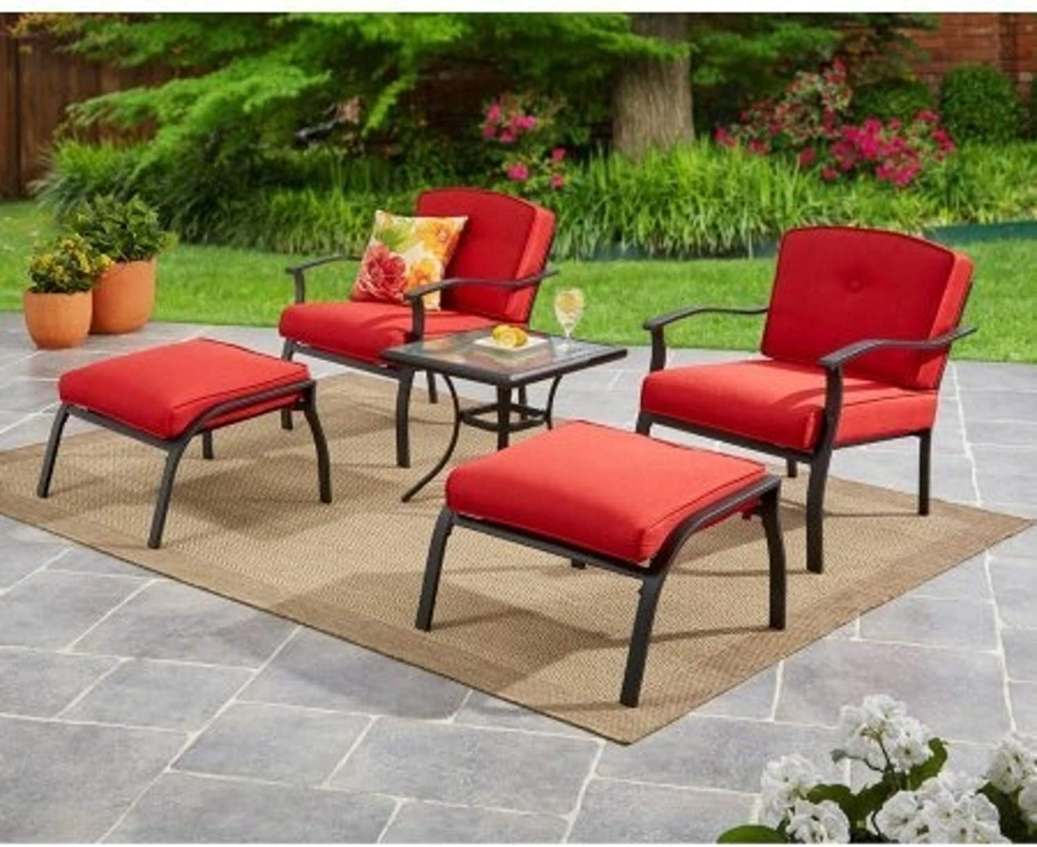 Mainstays Belden Park 5-Piece Leisure Set Red