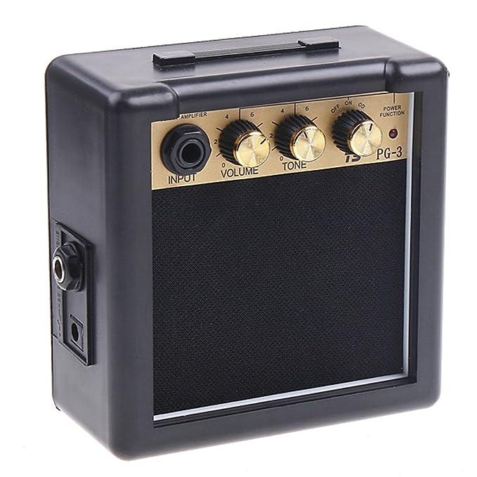 Andoer PG-3 Control de 3W guitarra eléctrica amperio amplificador del altavoz de tono del volumen