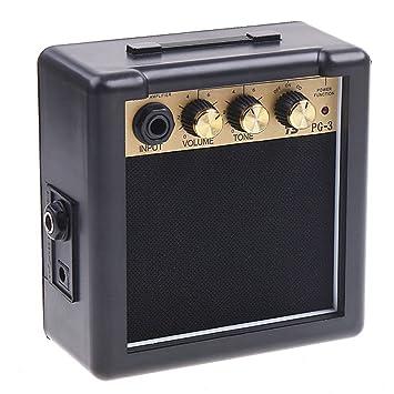 Andoer PG-3 Control de 3W guitarra eléctrica amperio amplificador del altavoz de tono del volumen: Amazon.es: Electrónica