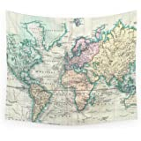 Amazon society6 gold world map wall tapestry small 51 x 60 society6 vintage map of the world 1801 wall tapestry small 51 x gumiabroncs Images