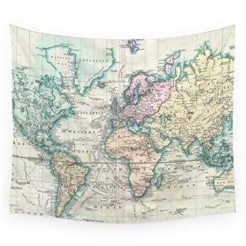 Amazon society6 vintage map of the world 1801 wall tapestry society6 vintage map of the world 1801 wall tapestry small 51quot gumiabroncs Gallery